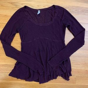 Free people intimates purple top
